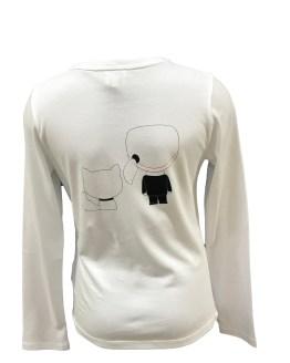 espalda Karl Lagerfeld camiseta dibujos