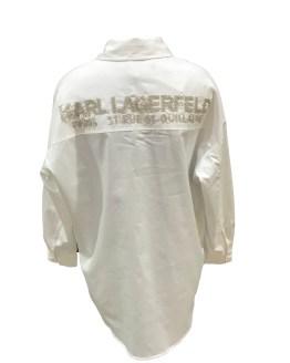 Karl Lagerfeld blusa blanca larga espalda