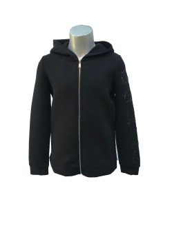 Guess chaqueta negra capucha y lentejuelas