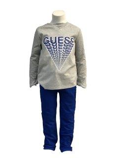 Guess Kids camiseta gris logo azul propuesta look