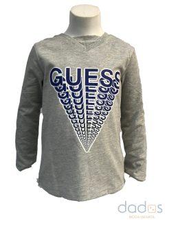 Guess Kids camiseta gris logo azul