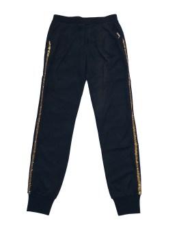 Guess pantalón jogging negro con franja dorada