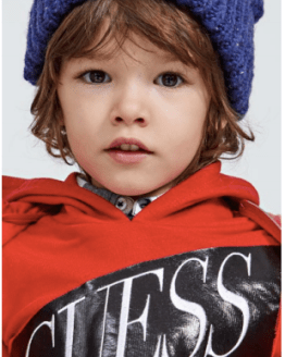 Guess Kids sudadera roja capucha