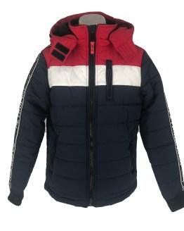 Petrol chaquetón azul marino, rojo y blanco