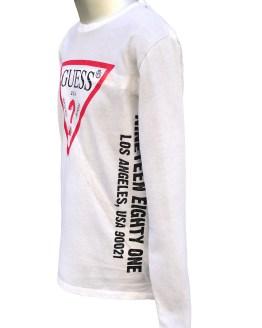 Vista Guess camiseta chico manga larga letras laterales
