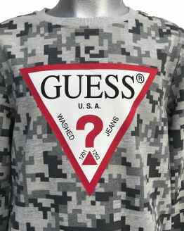 Guess sudadera chico grises detalle