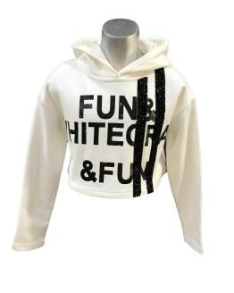 Fun&Fun sudadera blanca con capucha