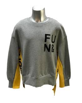 Fun&Fun sudadera gris y amarillo