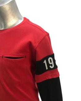 Detalle Cars Jeans camiseta roja con bolsillo