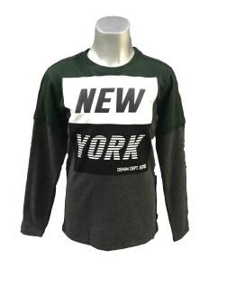 Cars Jeans camiseta gris y verde New York