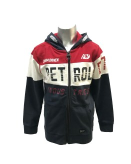 Petrol chaqueta tricolor con capucha