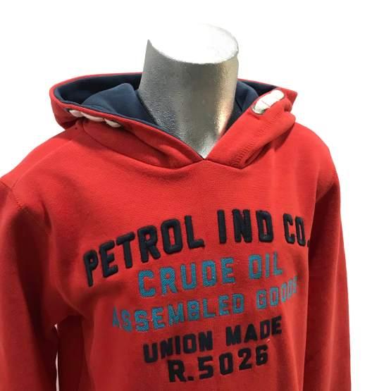 Petrol sudadera roja con bolsillo detalle