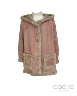Jose Varon abrigo rosa piel vuelta y forro de pelo