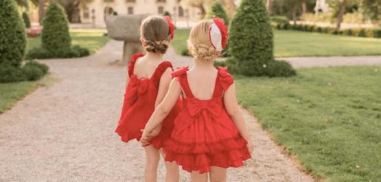 Espalda Dolce Petit vestido rojo vuelo