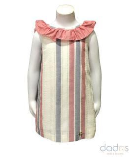 Dolce Petit vestido rayas sin mangas y lazo en espalda