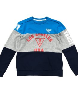 Guess sudadera tricolor trust