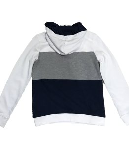 espalda Guess sudadera tricolor blanca