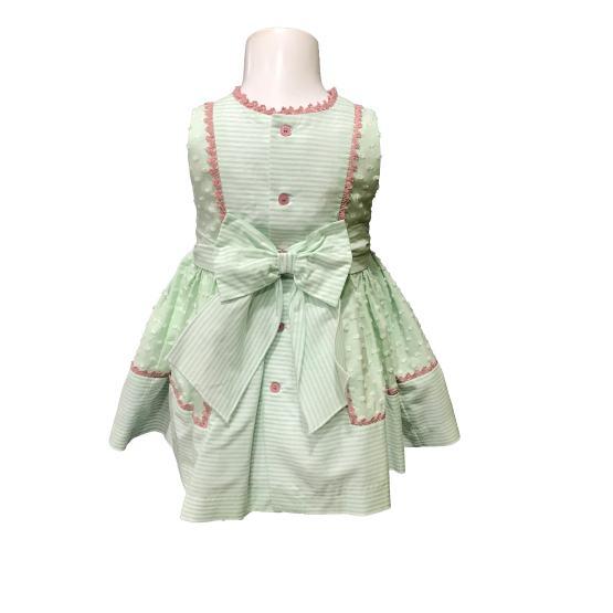Espaldsa Dolce Petit vestido y braguita verde agua