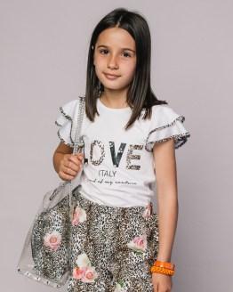 catálogo T-Love conjunto short flores y camiseta