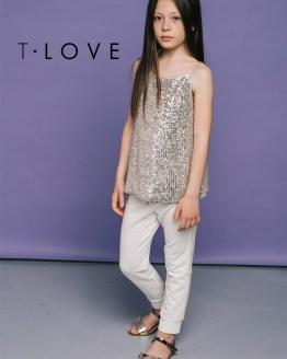 Catálogo T-Love camiseta tirantes lentejuelas brillo