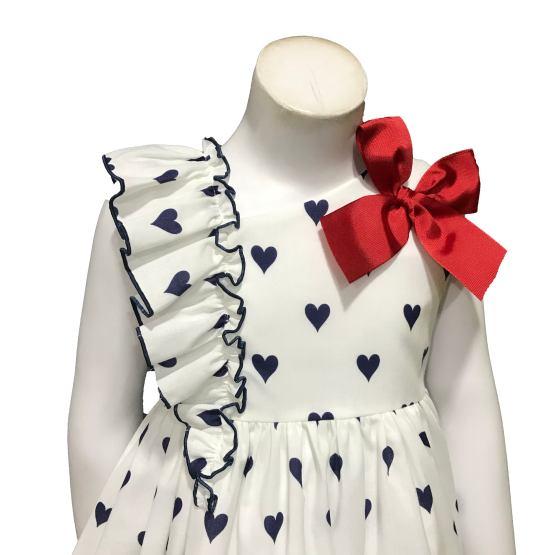 Detalle Mon Petit Bonbon vestido corazones