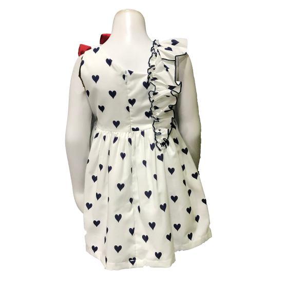 Espalda Mon Petit Bonbon vestido corazones