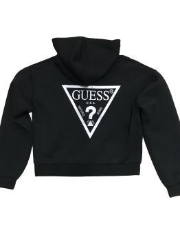espalda Guess chaqueta negra logo espalda