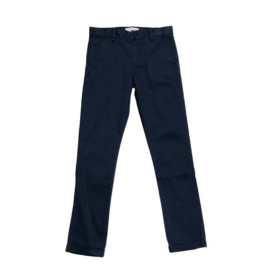 GUESS pantalón vestir azul marino triángulos