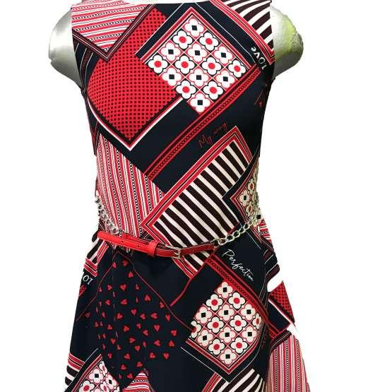 Detalle Sarabanda vestido estampado con cinturón