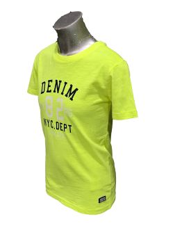 Vista lateral Cars Jeans camiseta Denim verde fluor