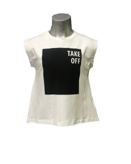 IDO camiseta take off negro espalda abierta