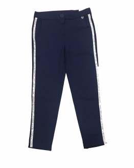 IDO pantalón chica punto liso azul marino
