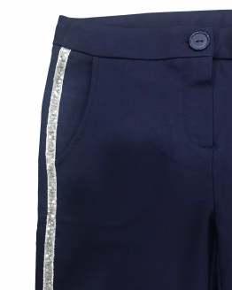 Detalle IDO pantalón chica punto liso azul marino