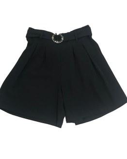 Jaimè pantalón negro cinturón tela