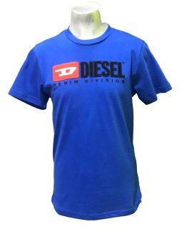 DIESEL camiseta azulona logo tela relieve