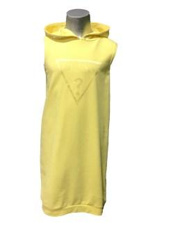 Guess vestido felpa capucha amarillo