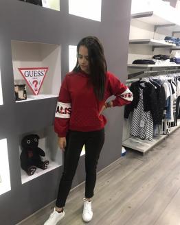 Monnalisa pantalón banda roja