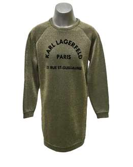 Karl Lagerfeld vestido dorado