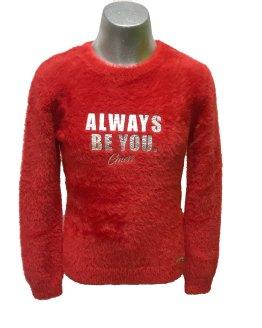 GUESS jersey chica rojo pelo letras brillo