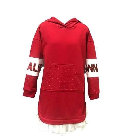 MONNALISA vestido fela rojo con capucha