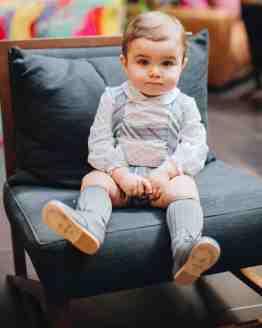 Varón conjunto bebé rayas