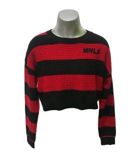 Monnalisa jersey rojo y negro rayas
