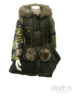 Coquelin abrigo verde y camuflaje