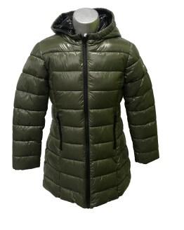 IDO abrigo verde tejido térmico y forro de pelo