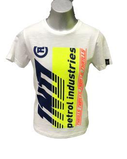 Petrol camiseta blanca logo fluor