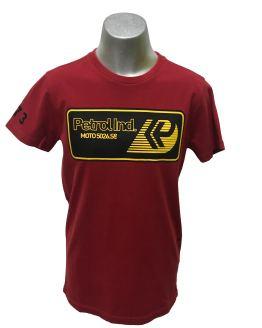 Petrol camiseta roja logo rectangular