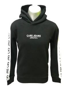 Cars Jeans sudadera negra letras manga
