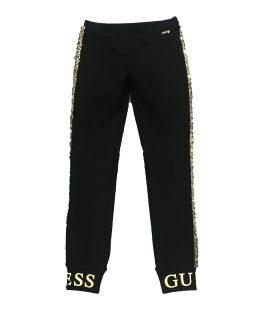 GUESS pantalón chica negro lentejuelas doradas