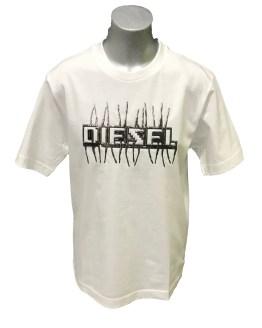 Diesel camiseta blanca logo relieve