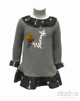 Coco Acqua vestido gris jirafa